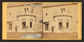 Family posing in front and in the balcony of stone house, from Robert N. Dennis collection of stereoscopic views 5.png