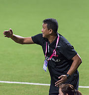 Fandi Ahmad, LionsXII match against Kelantan FA during the Malaysian Super League, Jalan Besar Stadium, Singapore - 20140308.jpg