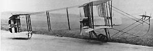 RAF Upavon - A French Farman MF.7 biplane of No.2 Sqn Royal Flying Corps