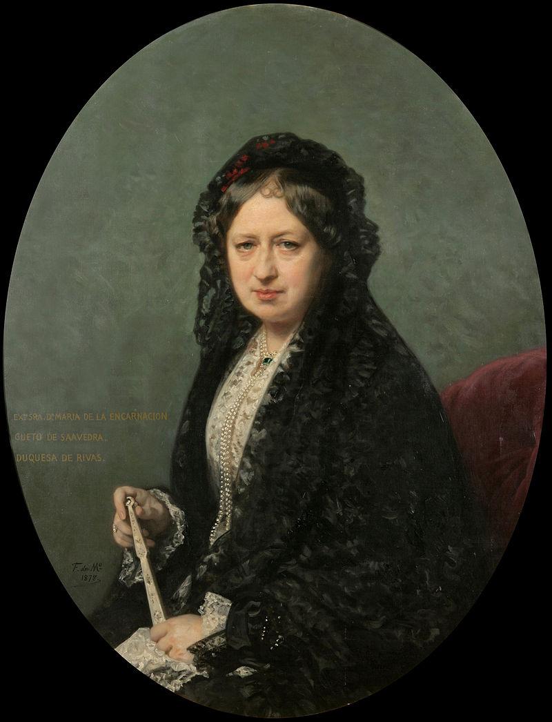 Federico de Madrazo - María Encarnación Cueto de Saavedra, Duchess of Rivas - Google Art Project.jpg