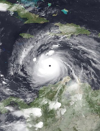 2007 Atlantic hurricane season - Image: Felix 2007 09 03 0315Z