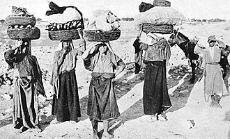 Battir - Village women going to market, 1913