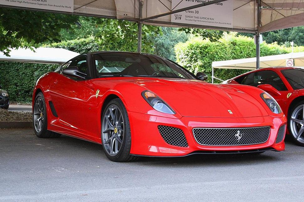 Ferrari 599 gto goodwood festival of speed 2010