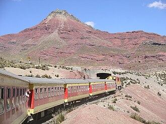 Yauli Province - Ferrocarril Central Andino near Antikuna pass