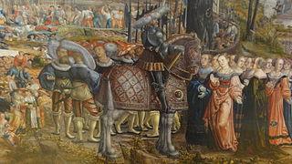 Clélie et ses compagnes devant Porsenna qui leur rend la liberté
