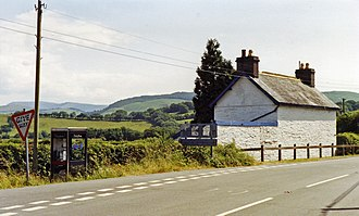 Ffridd Gate railway station - Site of the station in 1992