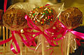 Final cake pops wrapped, May 2009.jpg