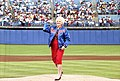 First Lady Barbara Bush Throws the Ceremonial First Pitch of a Texas Rangers Baseball Game.jpg