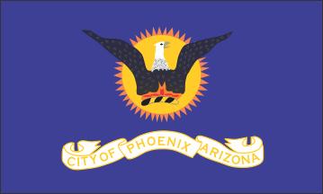 Flag of Phoenix, Arizona (1921-1990)