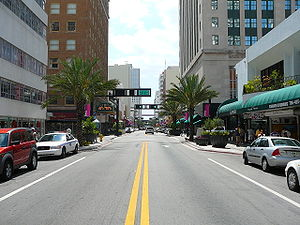 Central Business District (Miami) - Looking west down Flagler Street