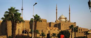Cairo Citadel - Cairo Citadel and Mosque of Muhammad Ali, seen from Salah El-Deen Street