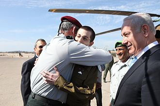 Benny Gantz - Chief of Staff, LTG Benny Gantz embracing Gilad Shalit upon his return from captivity, 18 October 2011
