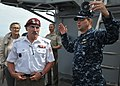 Flickr - Official U.S. Navy Imagery - The CO of USS Bataan discusses aviation operations with a Polish army Gen..jpg