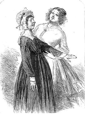 """Sol Eytinge Jr. - """"Flora and Mr. F's aunt"""", illustration by Sol Eytinge Jr. to Little Dorritt"""