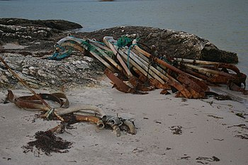English: Flotsam and jetsam Evening at Ardmore...