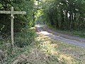 Footpath and bridleway junction near Crateman's Farm - geograph.org.uk - 1502278.jpg