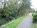 Footpath by stream through Herne Farm Estate - geograph.org.uk - 596188.jpg