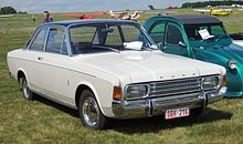 Ford 17M aka P7b 2 door saloon at rest Schaffen-Diest Fly-drive 2013.JPG