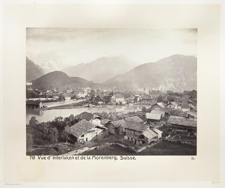 Fotografi av Interlaken och Morgenberg - Hallwylska museet - 103144