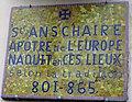 Fouilloy (Somme), plaque à la mémoire d'Anschaire 1.jpg