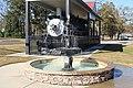 Fountain and train engine, T.C. Jeffords Park, Sylvester.jpg