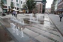Fountain at Šalda Square in Liberec, Liberec District.JPG