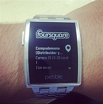 Foursquare - Foursquare on wearable phone watch