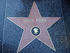 Jamie Foxx - Foxx's star on the Hollywood Walk of Fame