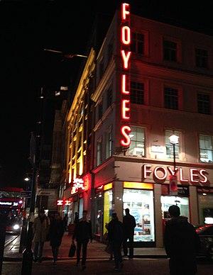 Foyles Building - At night