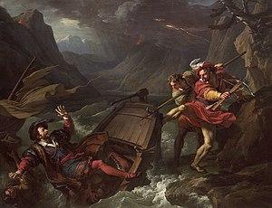 François-André VINCENT - Guillaume Tell renversant la barque sur laquelle le gouverneur Gessler traversait le lac de Lucerne - Musée des Augustins - 2004 1 297.jpg