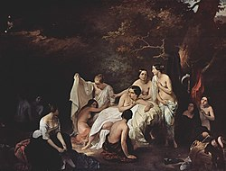 Francesco Hayez: Bad der Nymphen