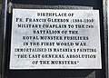 Francis Gleeson military chaplain, Templemore plaque, Co. Tipperary.jpg