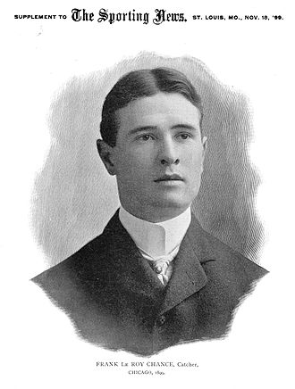 Frank Chance - Chance circa 1899 from The Sporting News