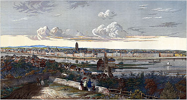 Frankfurt am Main as seen from the Mühlberg, ca. 1845
