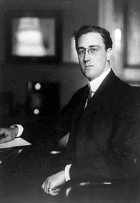 Franklin Delano Roosevelt, three-quarter lengt...