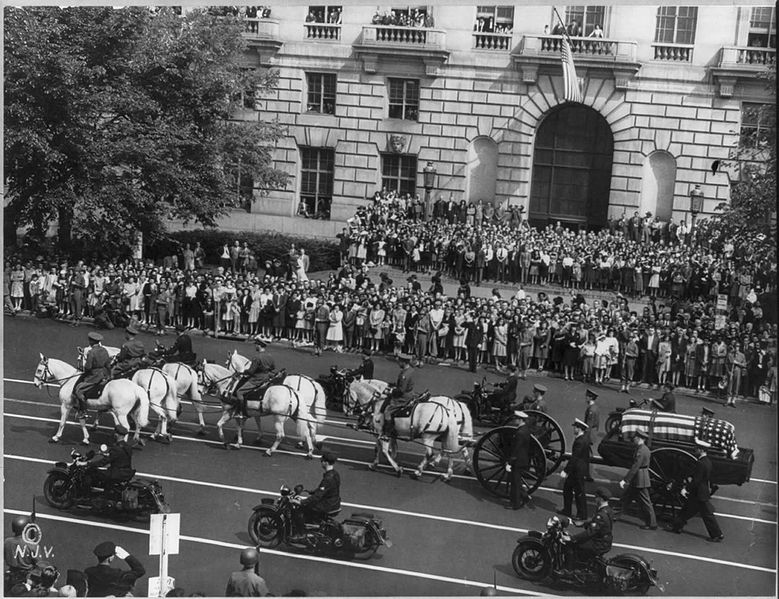FDR funeral procession