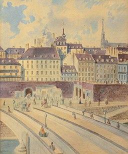 Franz Gerasch Blick auf Wien vom Donaukanal