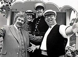 Anders Aldgård tv.   Pildammsteatern i Malmö 1988.