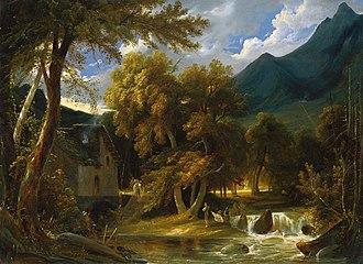 Friedrich August Elsasser - Southern landscape.