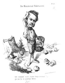 Karikatur Friedrich Christoph Dahlmanns von Wilhelm Völker auf seinen erfolglosen Versuch, eine Reichsregierung zu bilden (Quelle: Wikimedia)