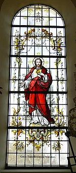 Fronhofen Pfarrkirche Fenster Herz Jesu