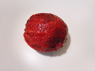Pitaya - A peeled fruit of the Stenocereus queretaroensis species