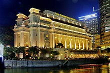 The Fullerton Hotel Singapore At Night