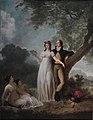 Gérard et Fragonard - Quatre personnage dans un parc.jpg