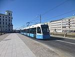 Göteborg tram line 9 on Södra hamngatan.JPG