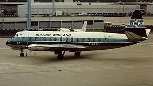 British Midland International - British Midland Airways Viscount 814 G-BAPF at Paris Orly in June 1981.