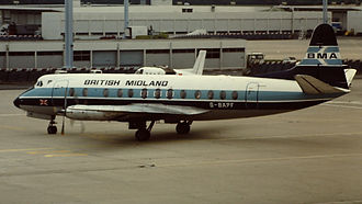 British Midland International - British Midland Airways Viscount 814 G-BAPF at Paris Orly in June 1981.