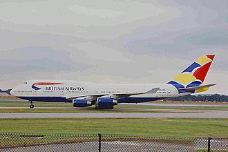 British Airways ethnic liveries - G-BNLH with Wings tail (1999)
