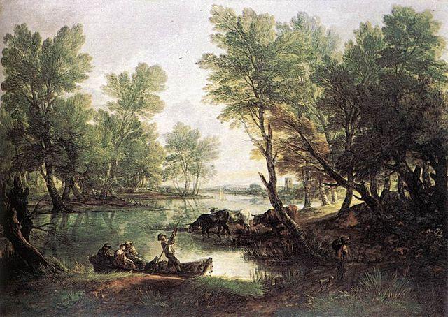 Томас Гейнсборо. Речной пейзаж. Масло, холст, 119 х 168 см. Между 1768 и 1770 гг.