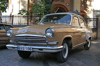 "GAZ Volga - A GAZ-M-21U in Lithuania, the ""Baleen"" type grille would become a factory trademark element for all successive cars."